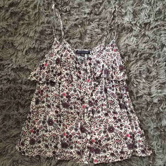 American Eagle Outfitters Tops - American Eagle Outfitters Printed Flower Tank